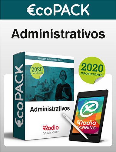€co Pack Administrativos del SAS. Oposiciones Ediciones Rodio.