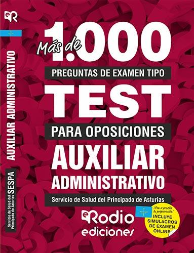 temarios oposiciones test auxiliar administrativo sespa rodio