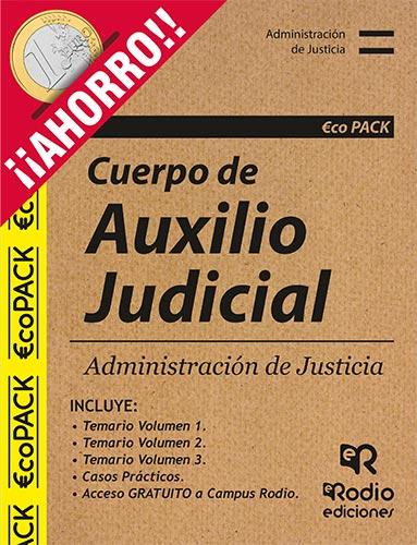 Pack Temarios Oposiciones Auxilio Judicial Ediciones Rodio