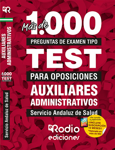 temarios oposiciones test auxiliares administrativos sas rodio