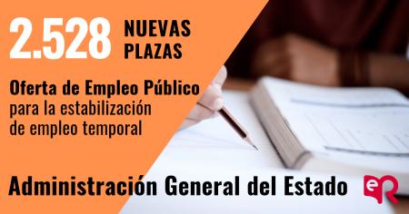 Convocadas 8.102 plazas de la Administración General del Estado