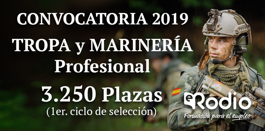 Tropa y Marinería Convocatoria 2019 Ediciones Rodio
