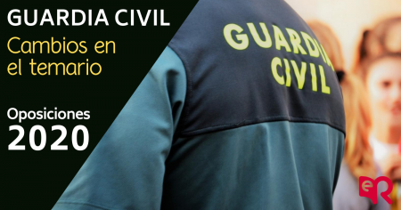 Guardia Civil cambios en el temario