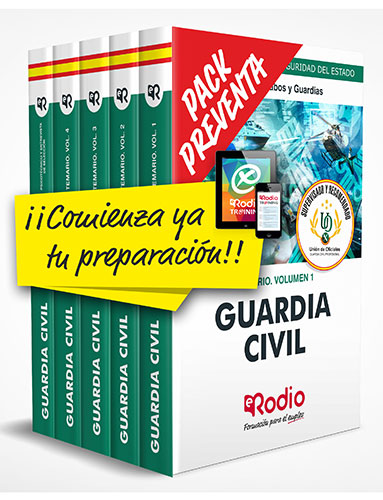 Pack Preventa Guardia Civil 2020 oposiciones