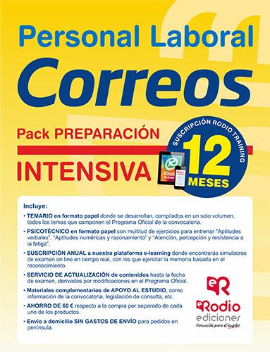Pack Oposiciones Correos. Preparación Intensiva