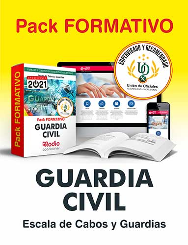 Pack formativo Guardia Civil oposiciones Ediciones Rodio