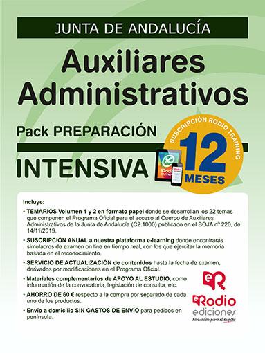 Auxiliar Administrativo Junta de Andalucía oposiciones Ediciones Rodio