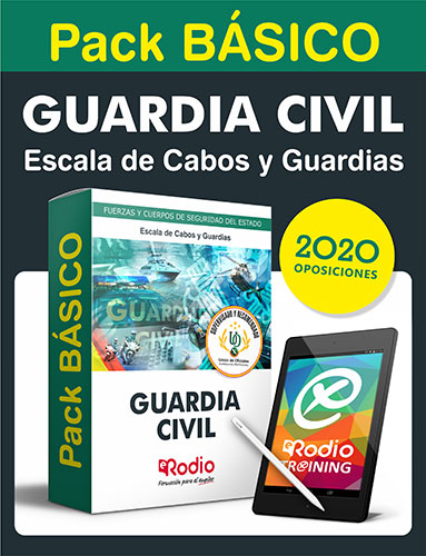 Pack básico Guardia civil 2020 Ediciones Rodio