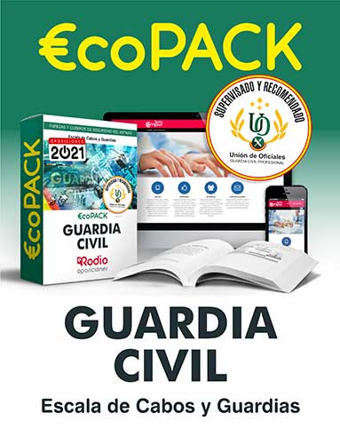 Pack Guardia Civil oposiciones Ediciones Rodio
