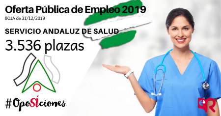 Servicio Andaluz de Salud. Nueve oferta de empleo. Oposiciones 2020.