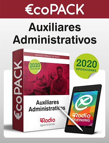 €co Pack Auxiliar Administrativo del SAS. Oposiciones Ediciones Rodio.