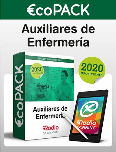 €co Pack Auxiliar de Enfermería del SAS. Oposiciones Ediciones Rodio.