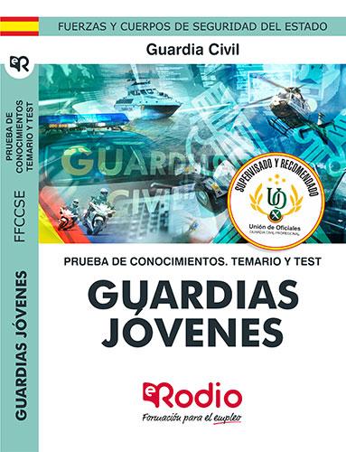 Guardias Jóvenes de la Guardia Civil. Prueba de conocimientos. Ediciones Rodio.
