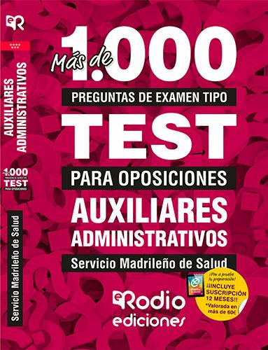 test oposiciones auxiliar administrativo sermas rodio