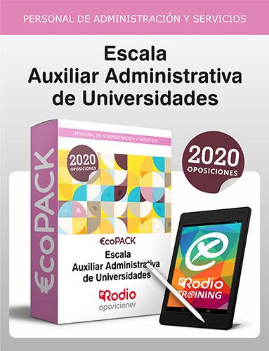 Auxiliar Administrativos Universidades oposiciones Ediciones Rodio
