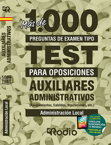 Auxiliar Administrativo Test oposiciones