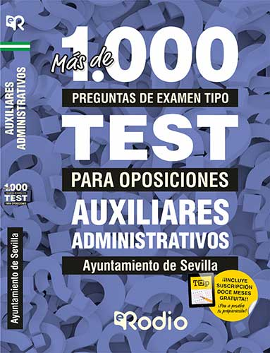 Test oposiciones auxiliar administrativo sevilla rodio